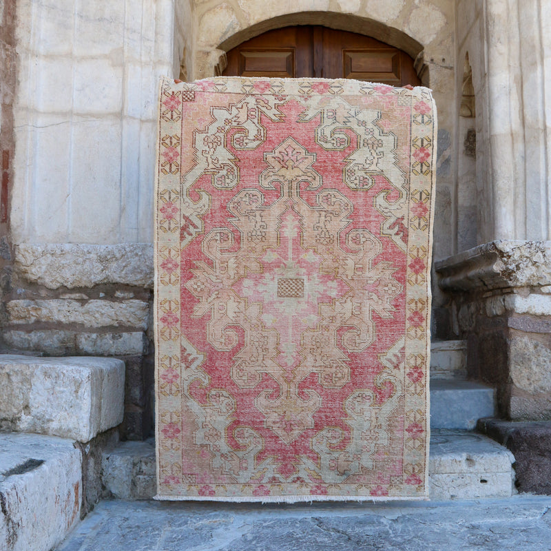 On Hold Not Available for Purchase 1709 Beste 4'3x6'6 Handwoven Vintage Rug