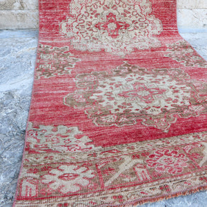 ON HOLD 1715 Fusun 2'11x12'5 Handwoven Vintage Rug