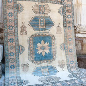 ON HOLD NOT AVAILABLE 1725 Feray 6'6x9'6 Handwoven Vintage Rug