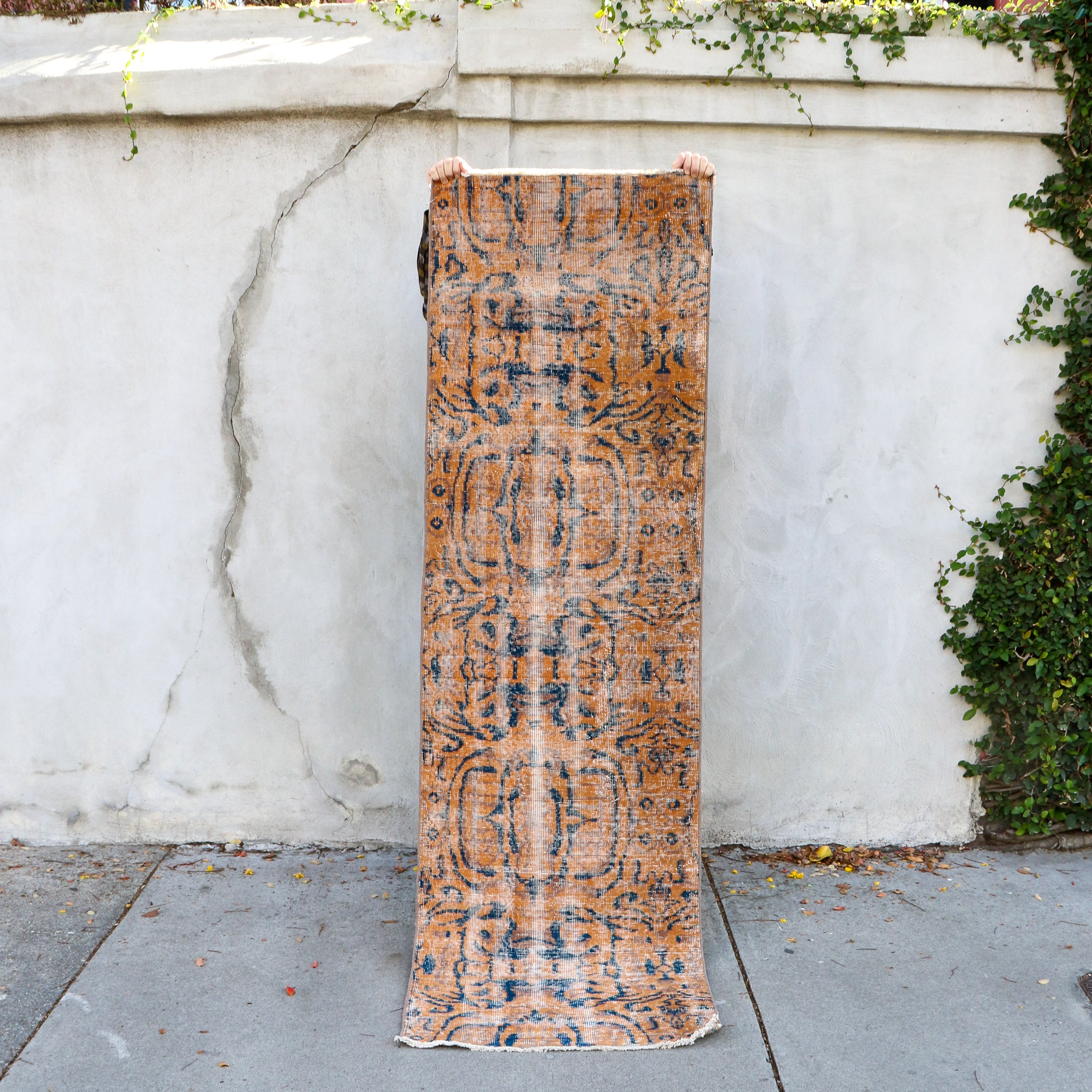 ON HOLD 1788 Lale 2'5x8'1 Handwoven Vintage Rug