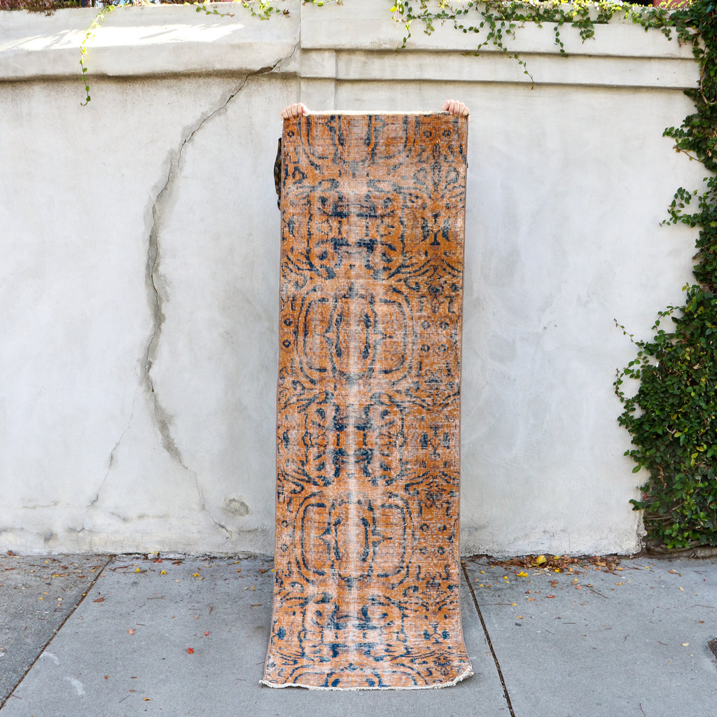 1788 Lale 2'5x8'1 Handwoven Vintage Rug