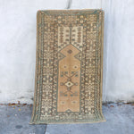 ON HOLD 1795 Beste 3'9x6'8 Handwoven Vintage Rug