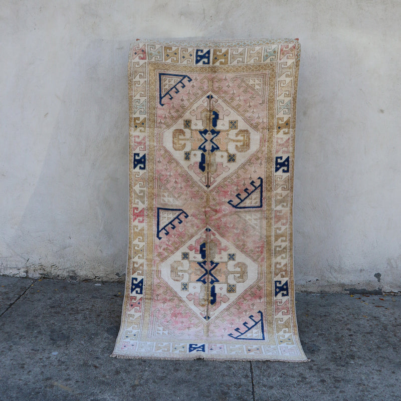 1987 Lale 3'7x6'11 Handwoven Vintage Rug