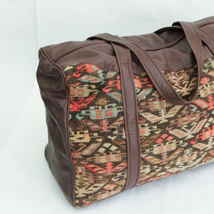 Kilim & Leather Overnight Bag #01