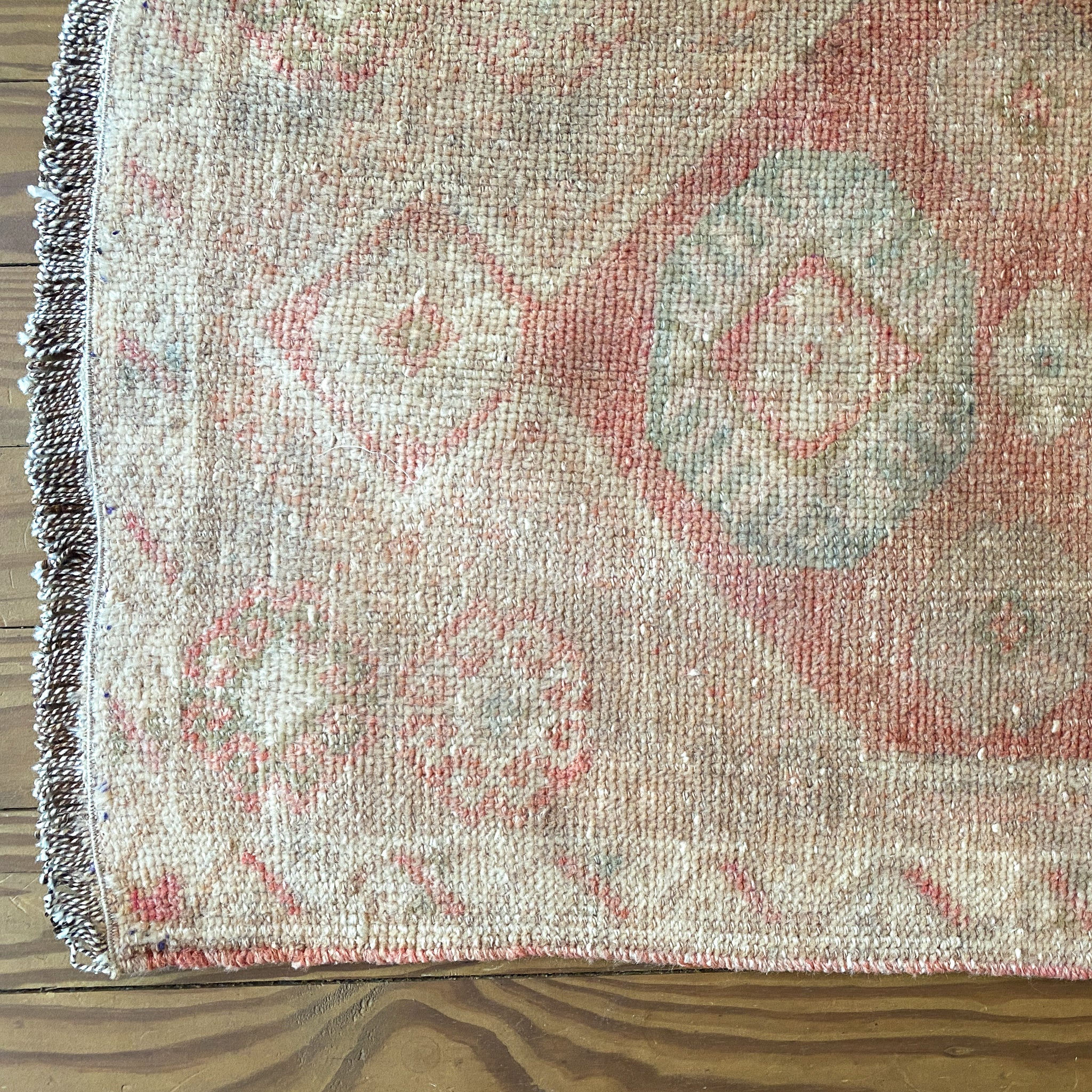 ON HOLD 2064 Handwoven Vintage Rug 1'10x3'4