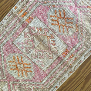 ON HOLD NOT AVAILABLE 2069 Handwoven Vintage Rug 1'7x2'9