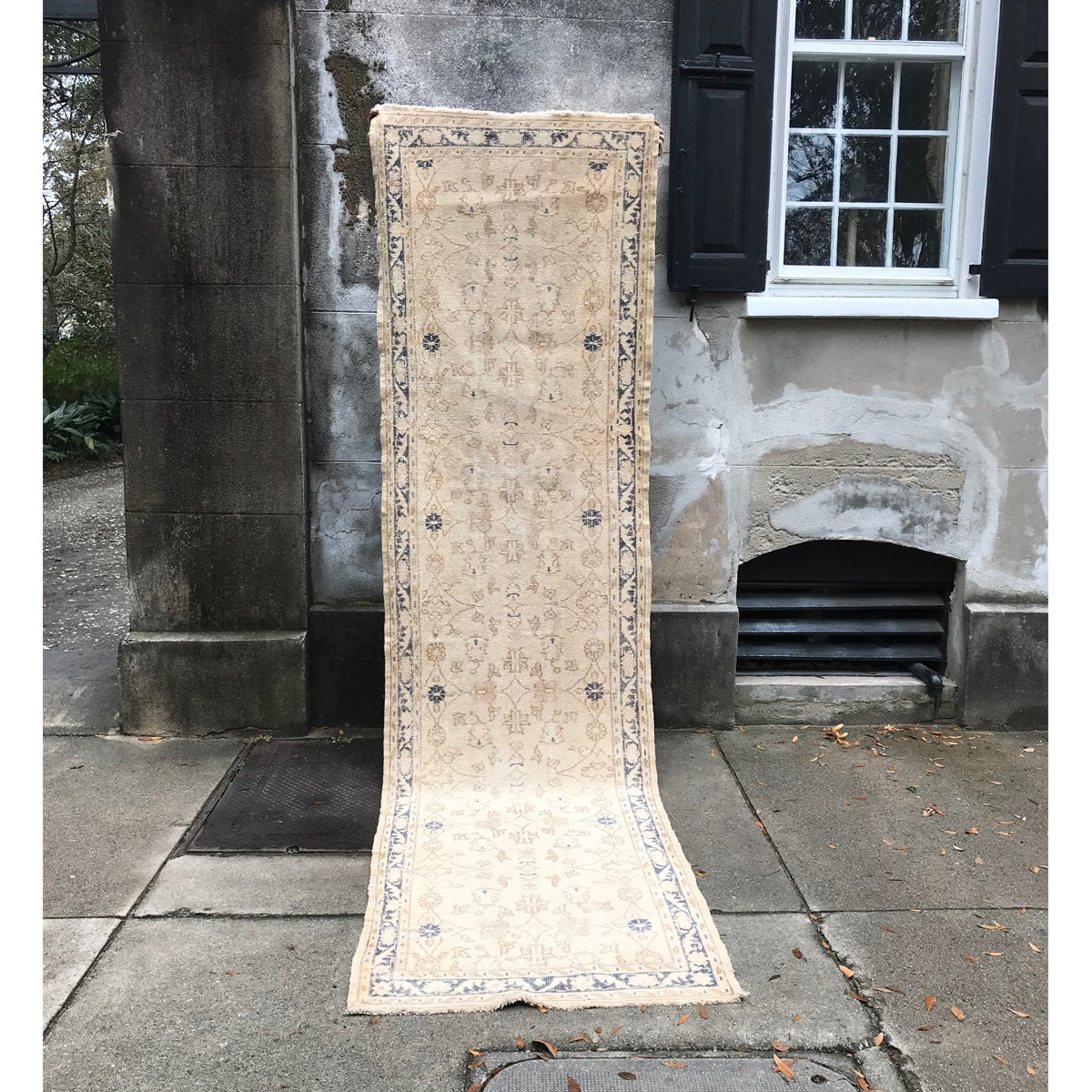 ON HOLD - 20 Navy Nigde 3'1x11 Handwoven Vintage Rug