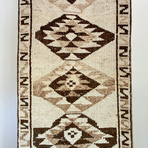 ON HOLD AP 2172 Handwoven Vintage Rug 2'10x11'3