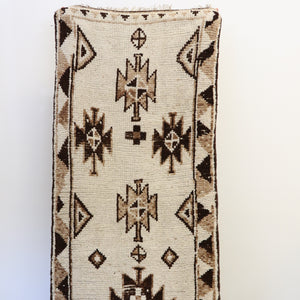 ON HOLD 2197 Handwoven Vintage Rug 2'7x12