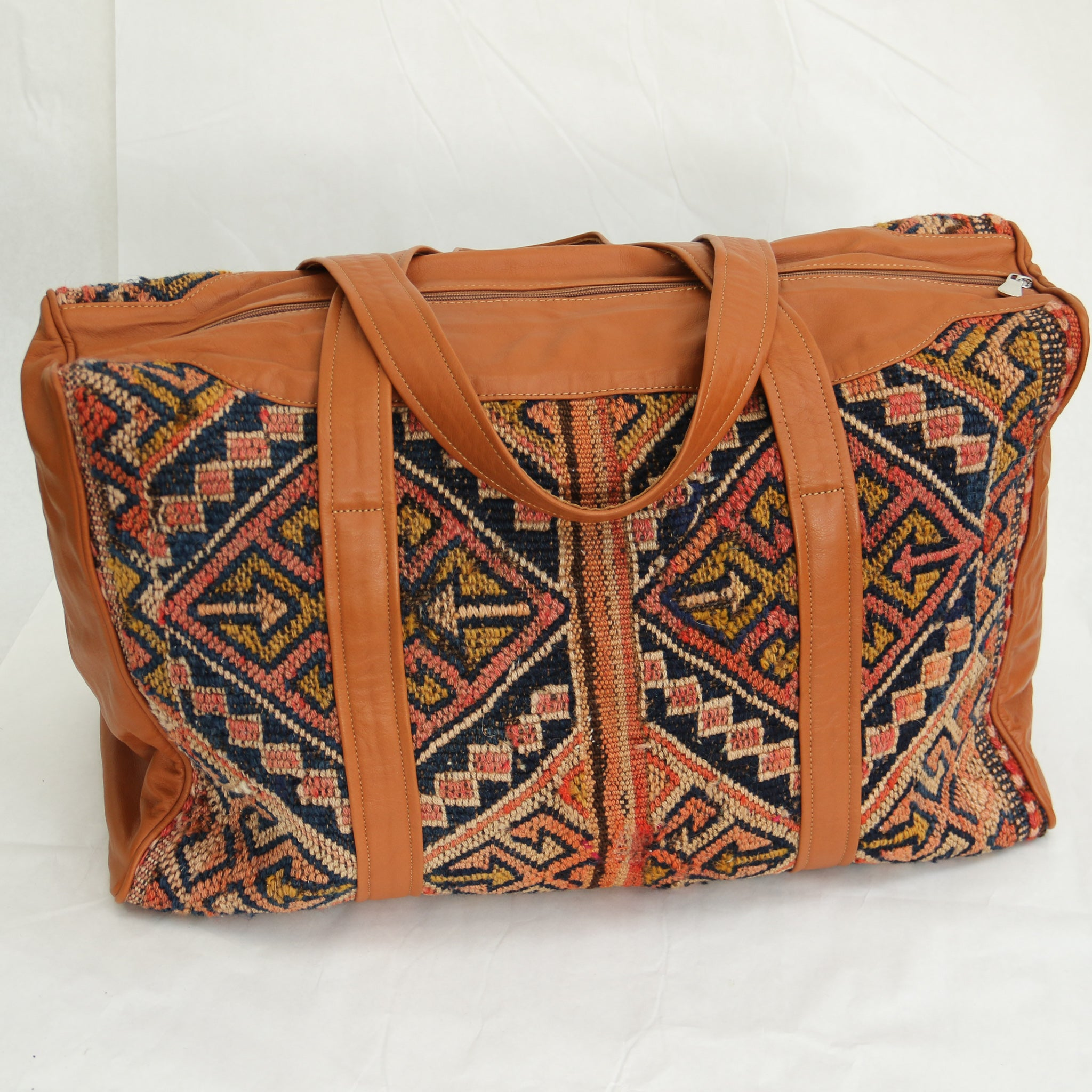 Kilim & Leather Overnight Bag #21