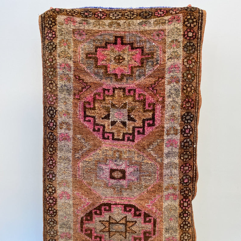 ON HOLD TC 2214 Handwoven Vintage Rug 2'10x12'6