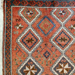 ON HOLD WN 2227 Handwoven Vintage Rug 4'6x10'8