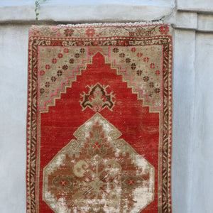 ON HOLD NOT AVAILABLE 2232 Kiraz 2'8x11 Handwoven Vintage Rug