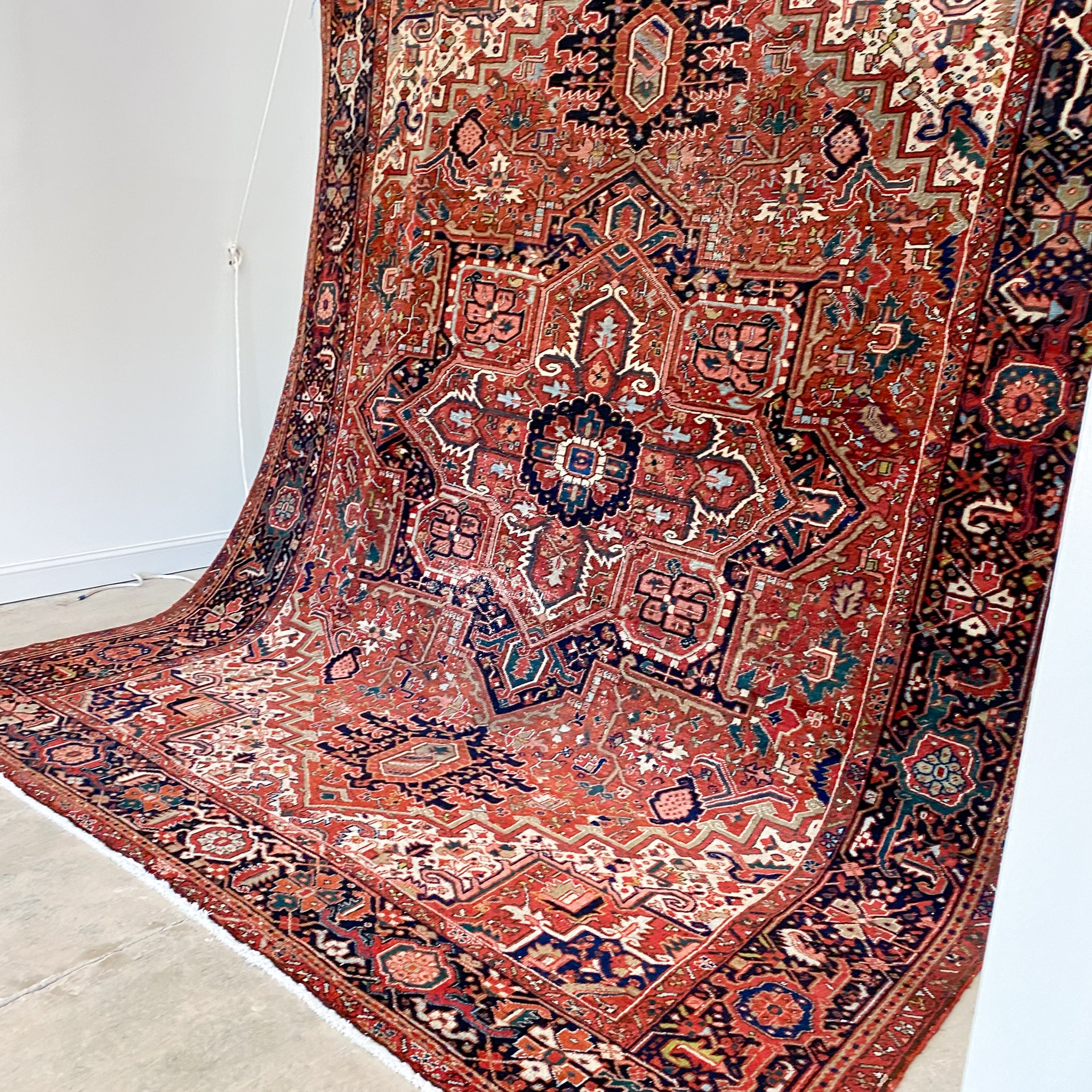 ON HOLD 2233 Handwoven Antique Rug 8'11x11'1