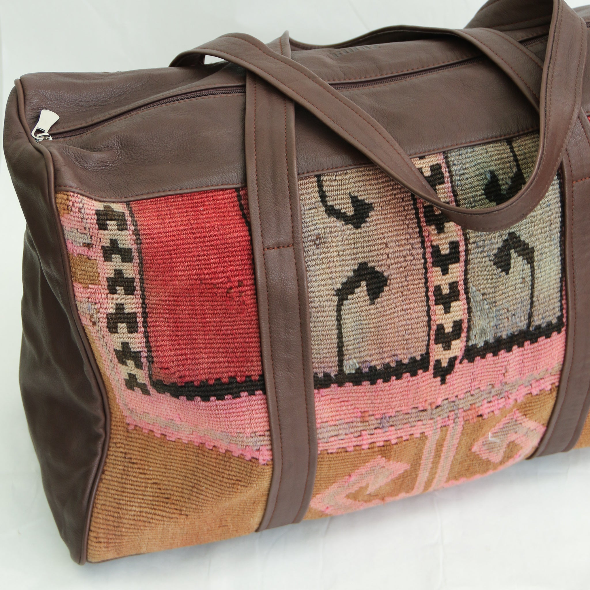 Kilim & Leather Overnight Bag #22