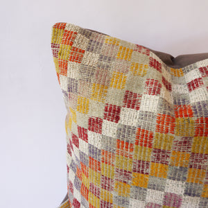 010 Checked Kilim Pillow 24x24