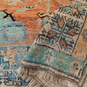 ON HOLD 2735 Handwoven Vintage Rug 5'9x9'8