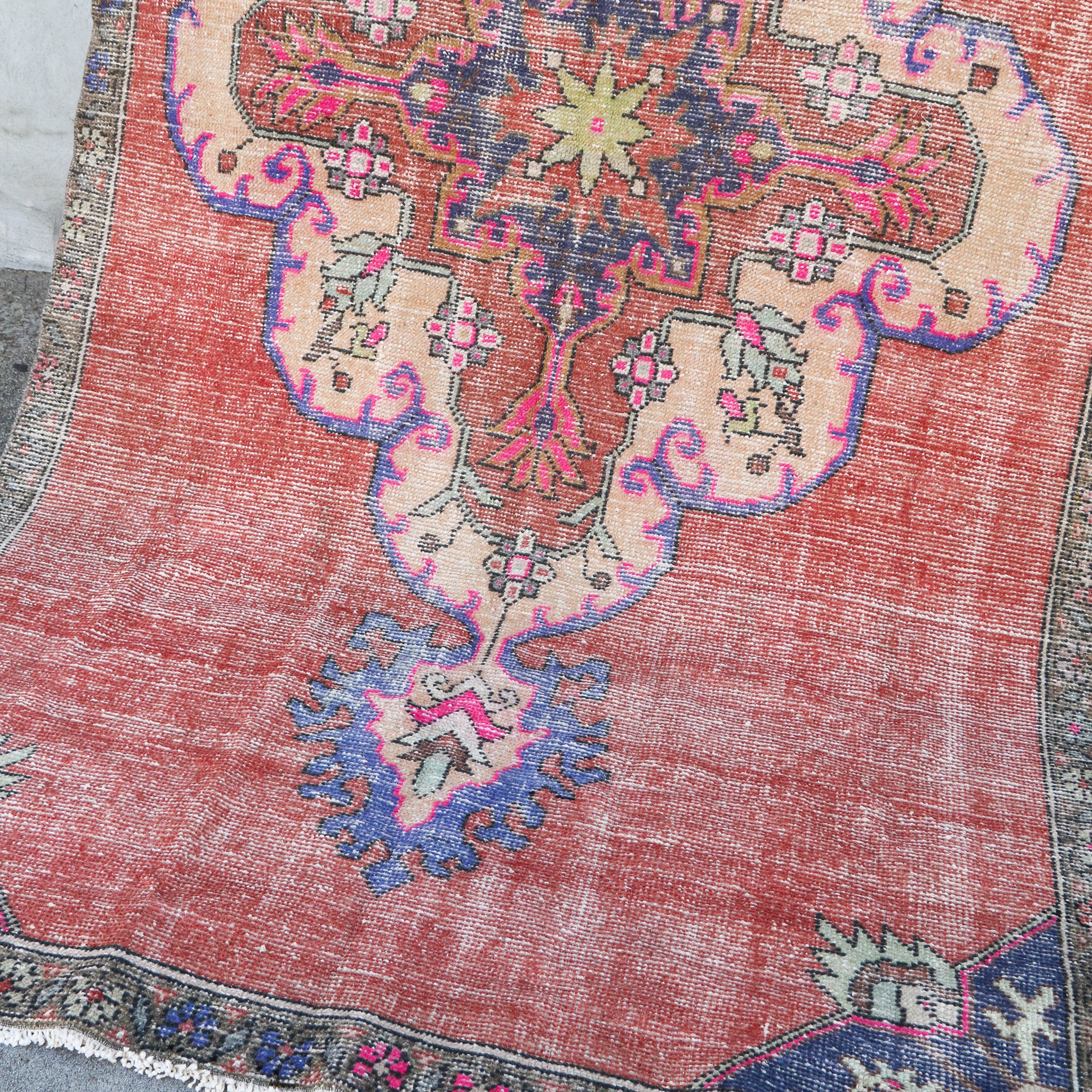 ON HOLD 376 Feriha 4'5x8'5 Handwoven Vintage Rug