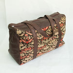 Kilim & Leather Overnight Bag #04