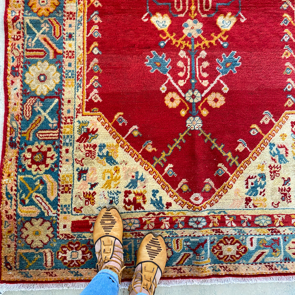 509 Handwoven Antique Rug 4'6x5'10