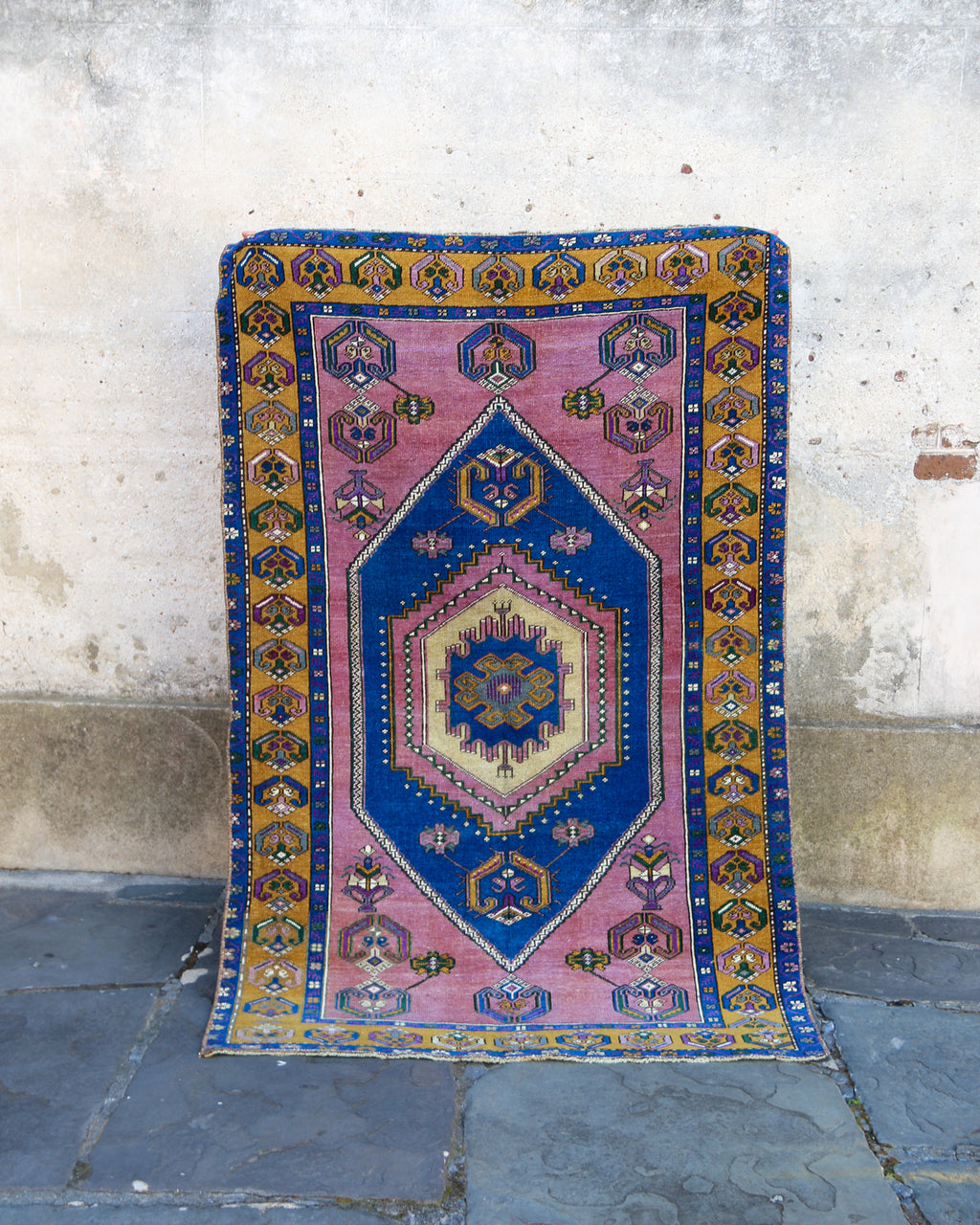 ON HOLD 56267 Handwoven Vintage Rug 4'2x6'5