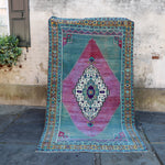 ON HOLD 56372 Handwoven Vintage Rug 5'1x8'11