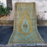 ON HOLD 56411 Handwoven Vintage Rug 5'2x11'3