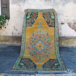 ON HOLD 56471 Handwoven Vintage Rug 5'2x10'4