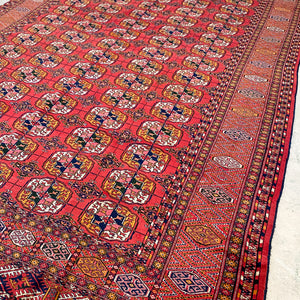 702 Handwoven Antique Rug 7'1x10'5