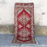 725 3'4x10'5 Handwoven Antique Rug