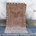 ON HOLD 732 4'8x11'1 Handwoven Vintage Rug