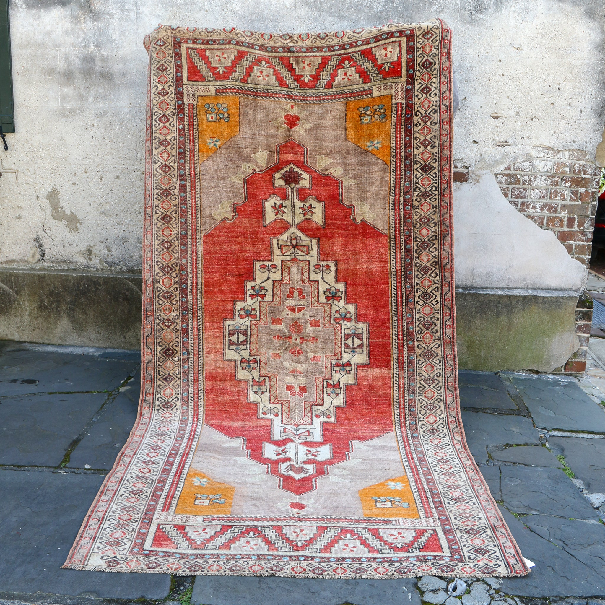 ON HOLD 752 Leyla 5x10'3 Handwoven Vintage Rug