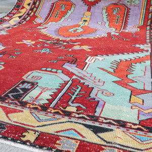 ON HOLD 807 Belma 5'10x11'9 Handwoven Vintage Rug