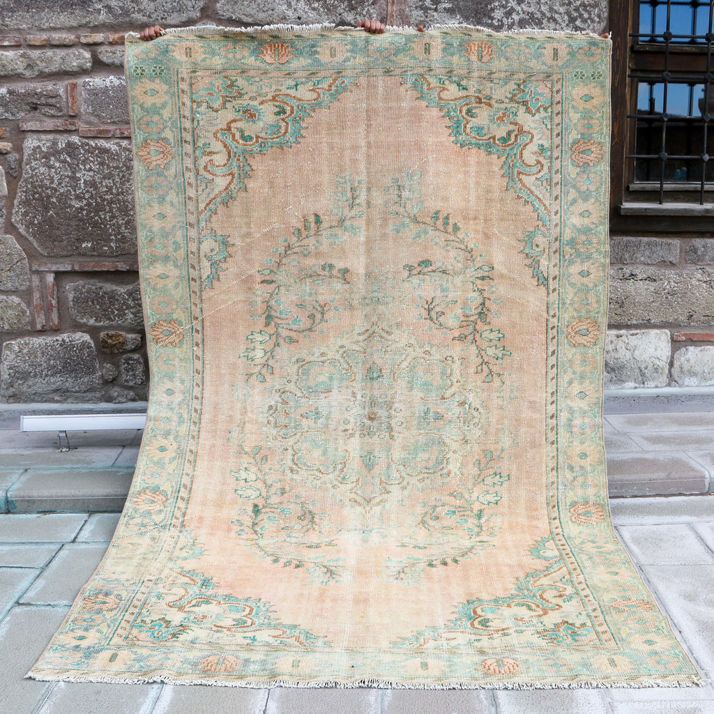 ON HOLD / NOT AVAILABLE 815 Ceyla 5'7x9'10 Handwoven Vintage Rug