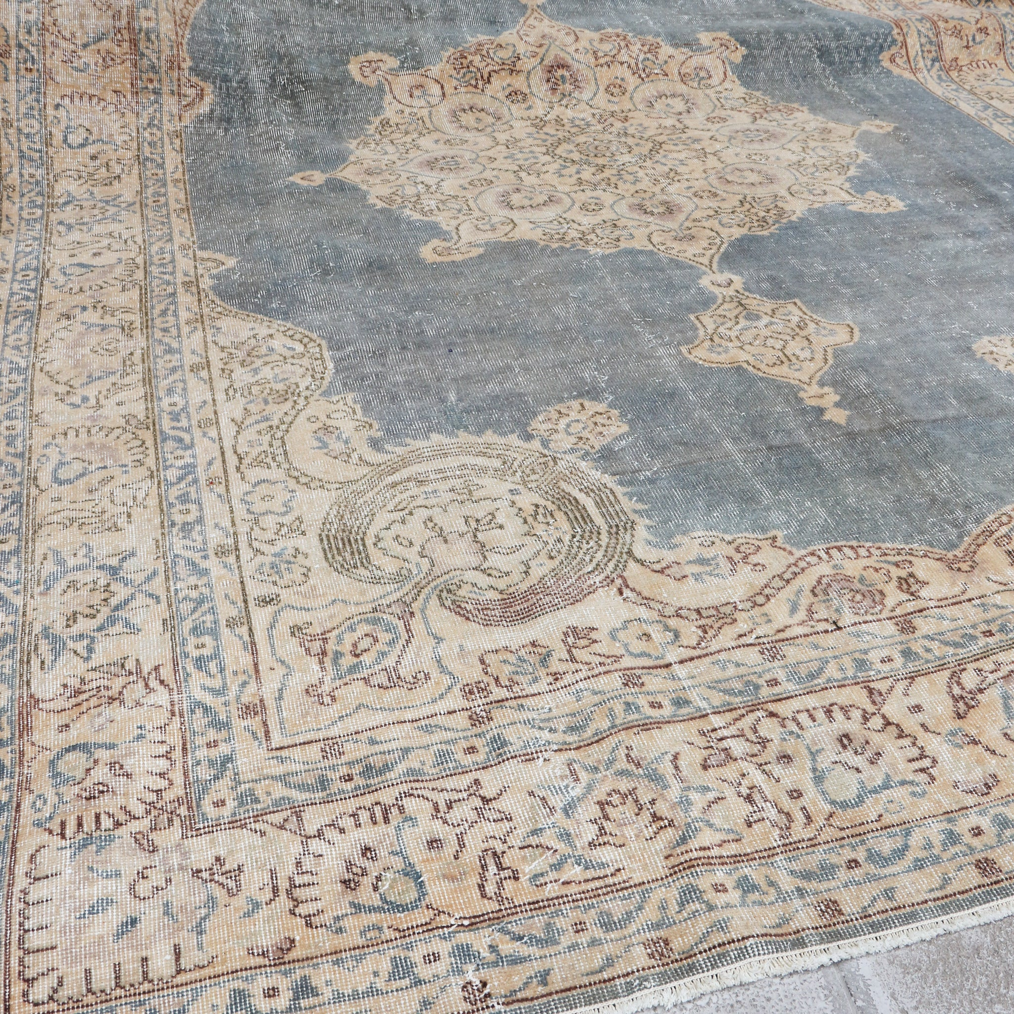 large vintage Turkish rug