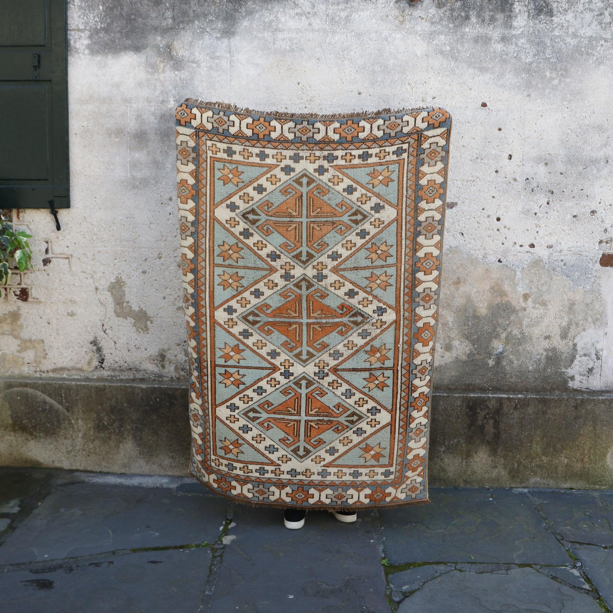 ON HOLD NOT AVAILABLE 929 Ada 3'7x5'2 Handwoven Vintage Rug