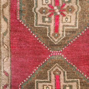 ON HOLD 960 Small Handwoven Vintage Rug 1'10x2'10