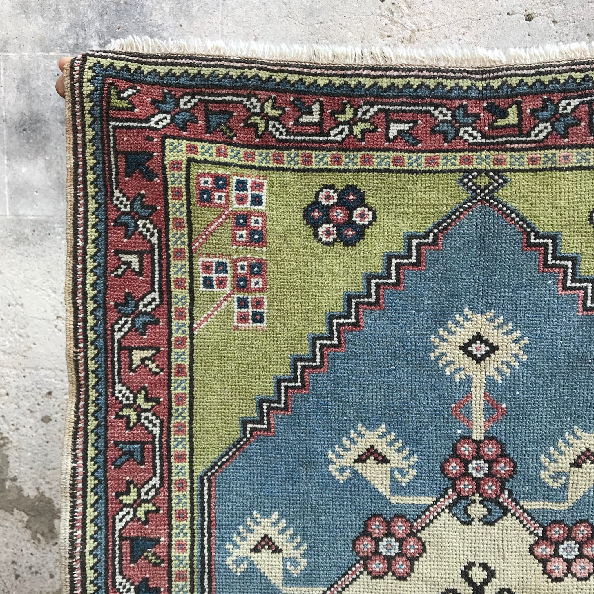 ON HOLD 69 Rezzan 2'9x3'11 Handwoven Vintage Rug