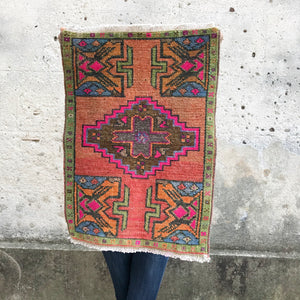 vintage Turkish rug small