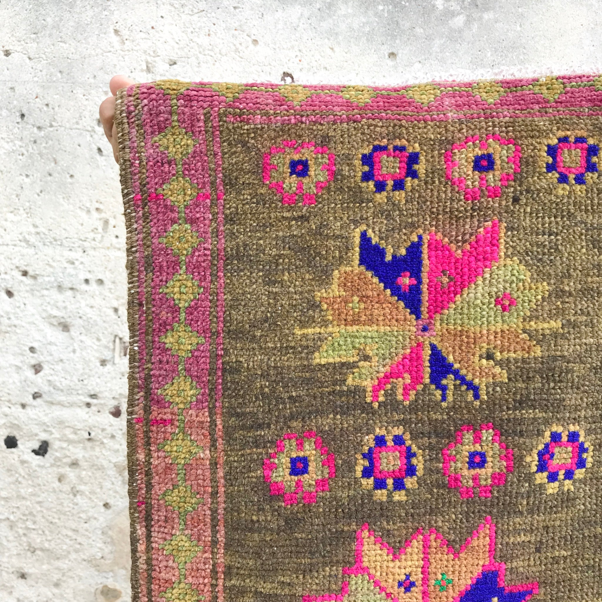 vintage Turkish small rug