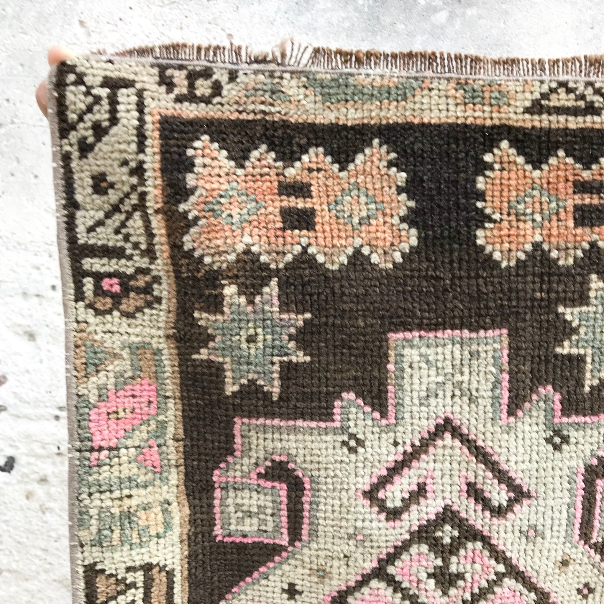 small vintage Turkish rug