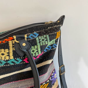 Kilim & Leather Day Bag #26