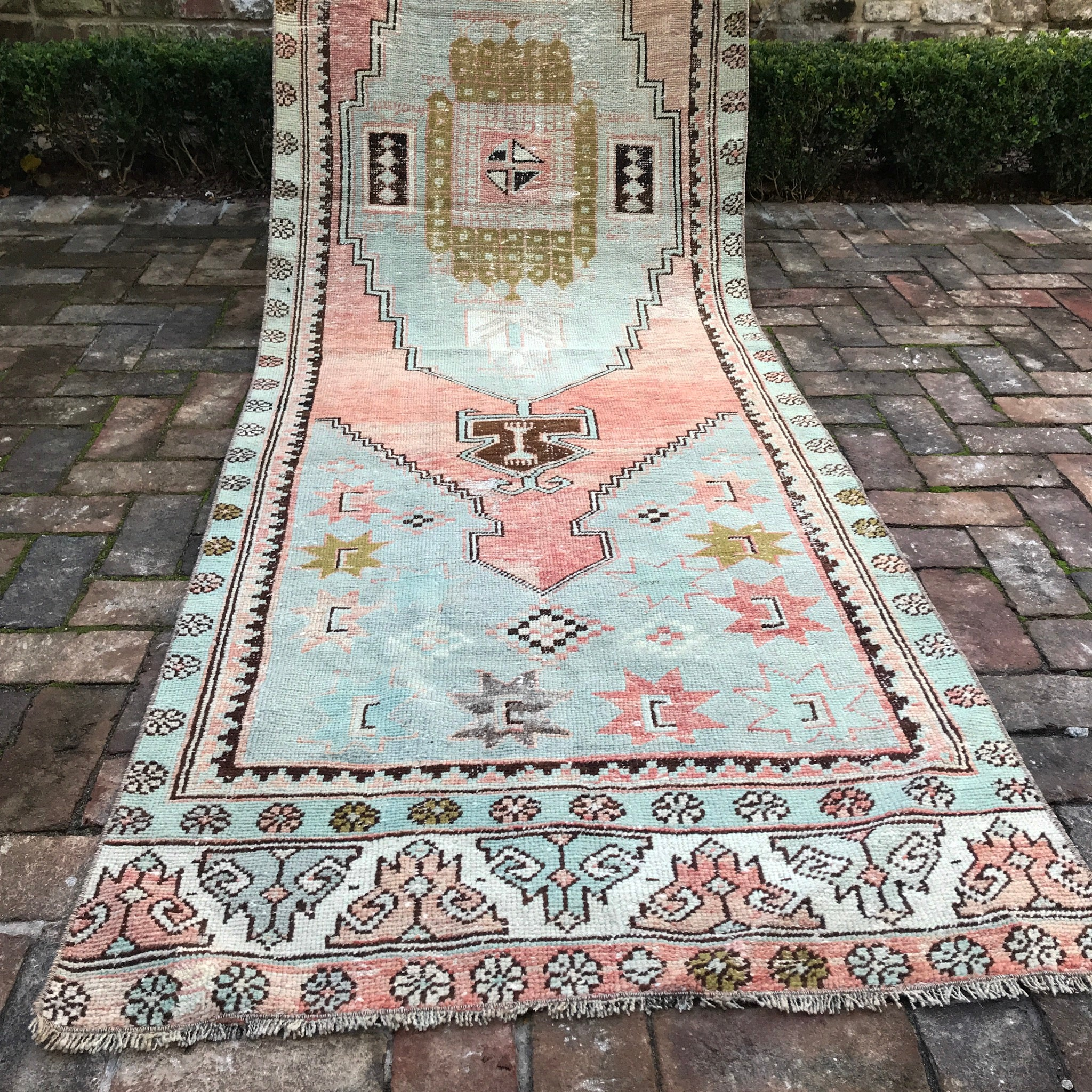 ON HOLD 2119 Canan 3'1x11'3 Handwoven Vintage Rug