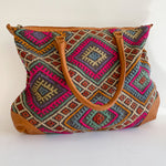 Kilim & Leather Day Bag #25