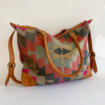 Kilim & Leather Day Bag #27