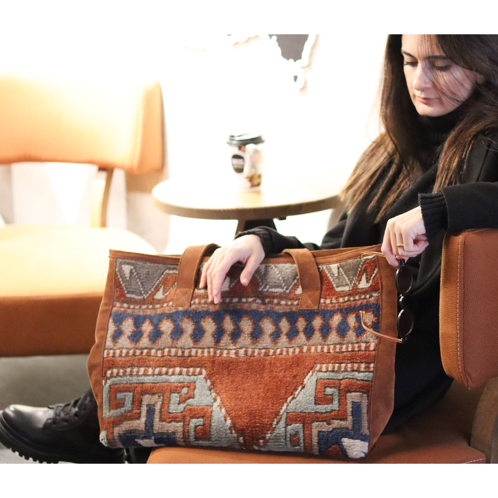 Rug & Suede Day Bag #58