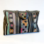 Kilim & Leather Overnight Bag #37 (w/ side pockets)