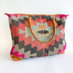 Kilim & Leather Day Bag #17