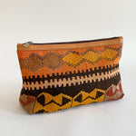 Kilim & Leather Day Clutch #28