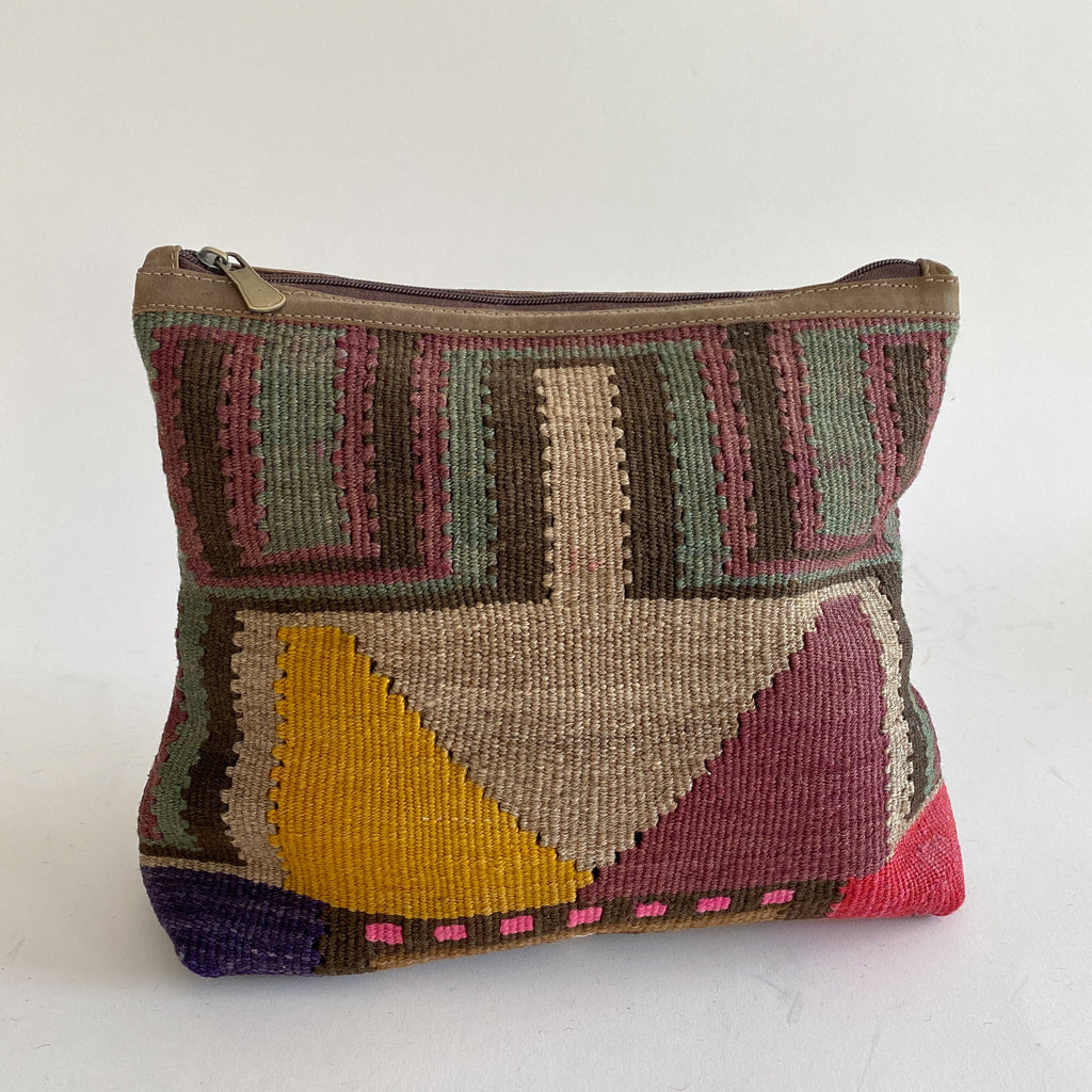 Kilim & Leather Day Clutch #29